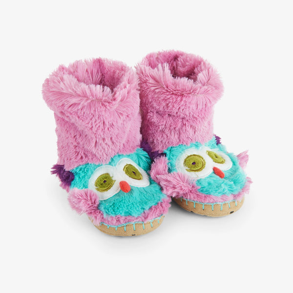 Little Blue House Party Owl Slippers