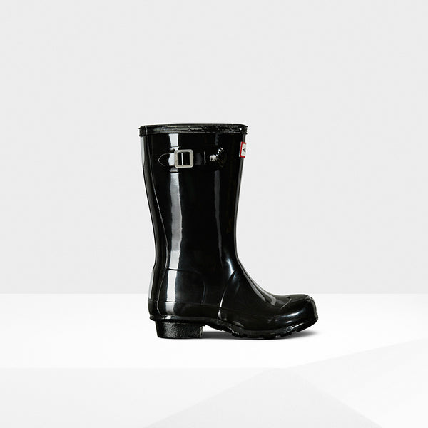 Hunter Black Original Kids Gloss Rain Boot