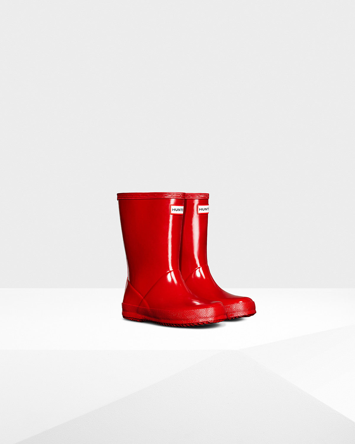 Hunter Military Red Original Kids First Gloss Rainboot
