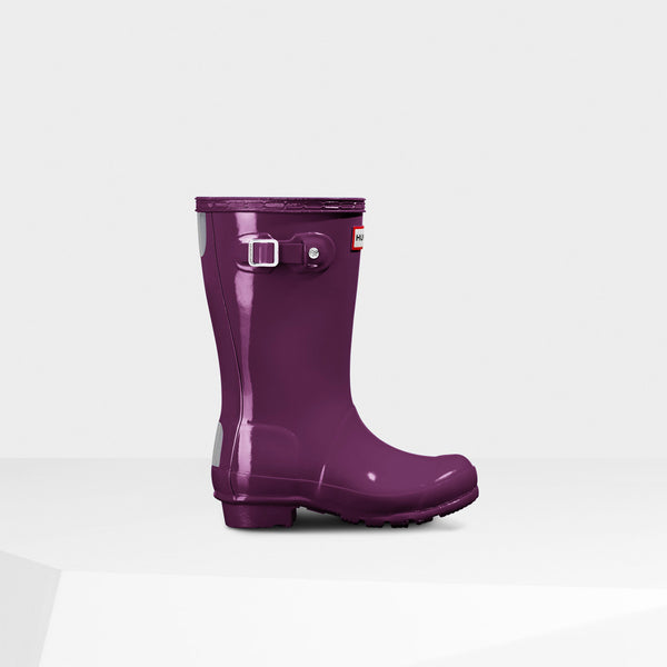 Hunter Violet Original Kids Gloss Rain Boot