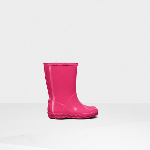 Hunter Bright Pink Original Kids First Gloss Rainboot