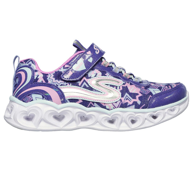 Skechers Purple Multi Heart Lights Sneaker