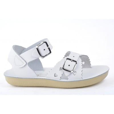 Saltwater Sandals White Sweetheart Sandals