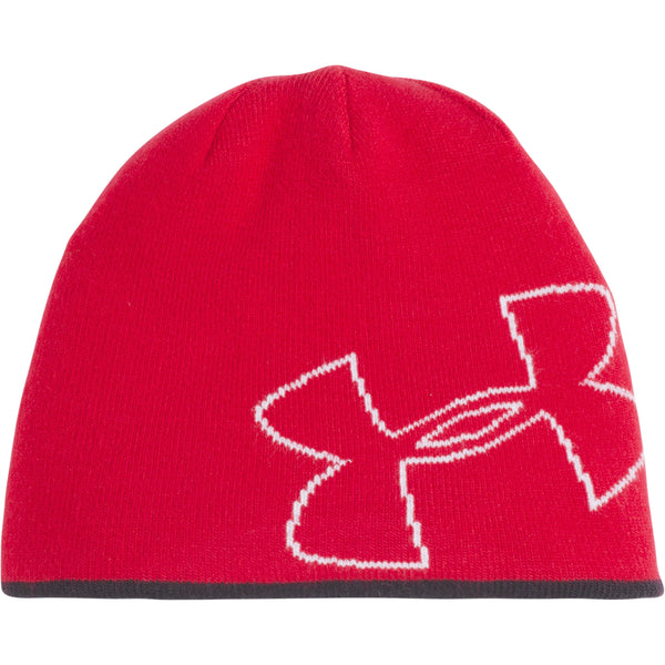 Under Armour Kids Red Double Layer Reversible Beanie