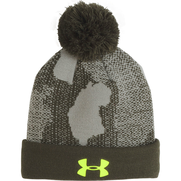 Under Armour Kids Artillery Green Pom UPD Hat