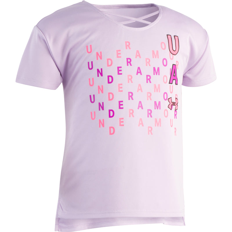 Under Armour Toddler Purple Ace Wavy Wordmark S/S Tee