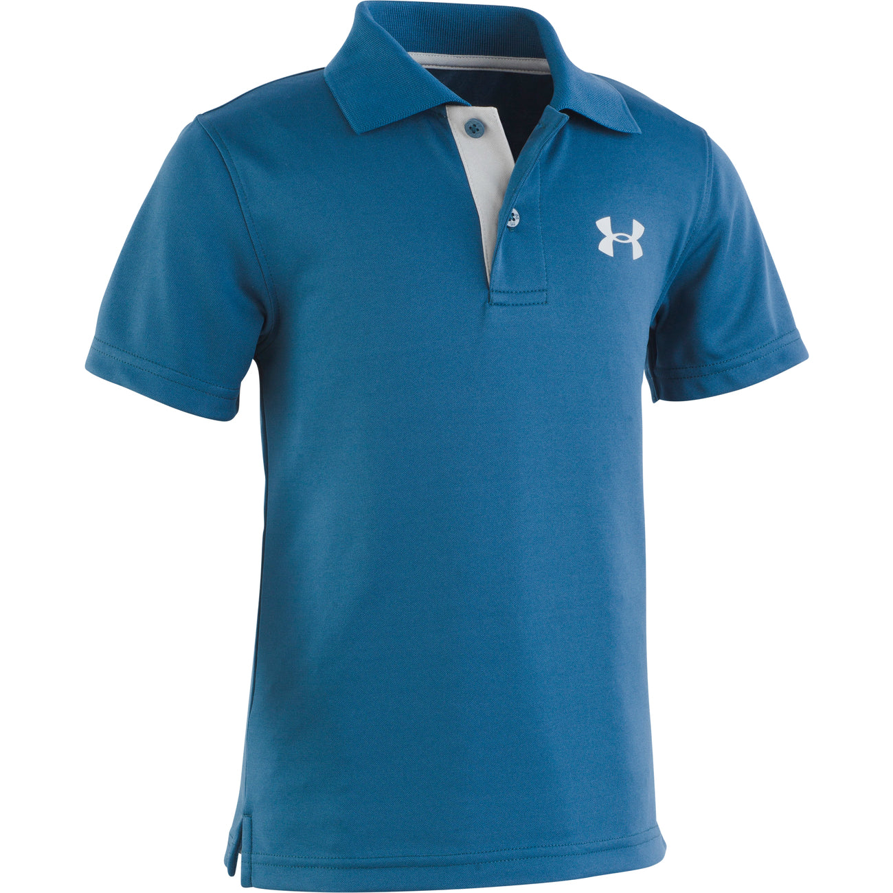 Under Armour Kids Petrol Blue Match Play Polo