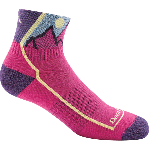Darn Tough Pink 1/4 Cushion Jr. Hike Sock