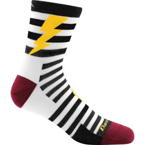 Darn Tough Black Lightning Micro Light Crew Sock