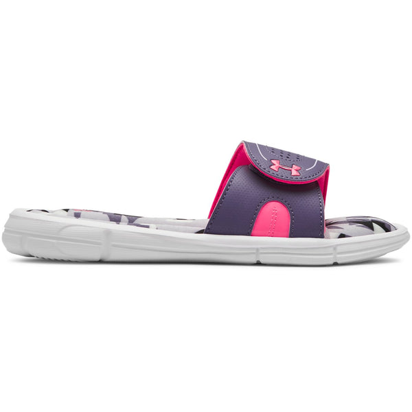 Under Armour White/Purple Luxe/Mojo Pink Ignite Jagger VIII Slide