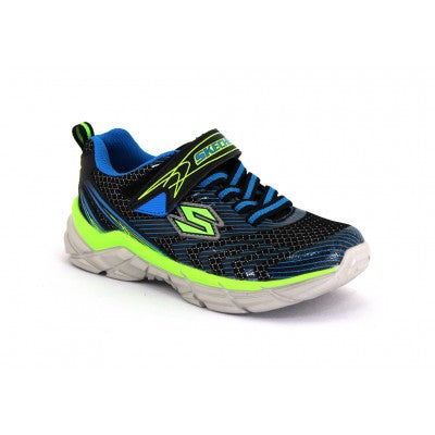 Skechers Boys Blue/Lime Rive Sneaker