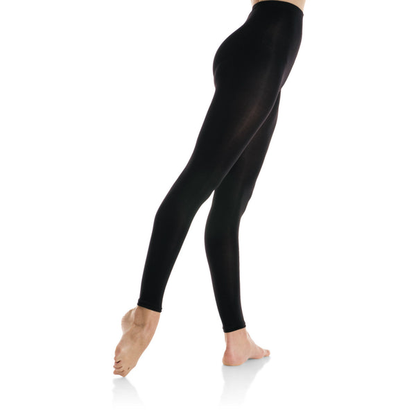 Mondor Black Durable Footless Tights