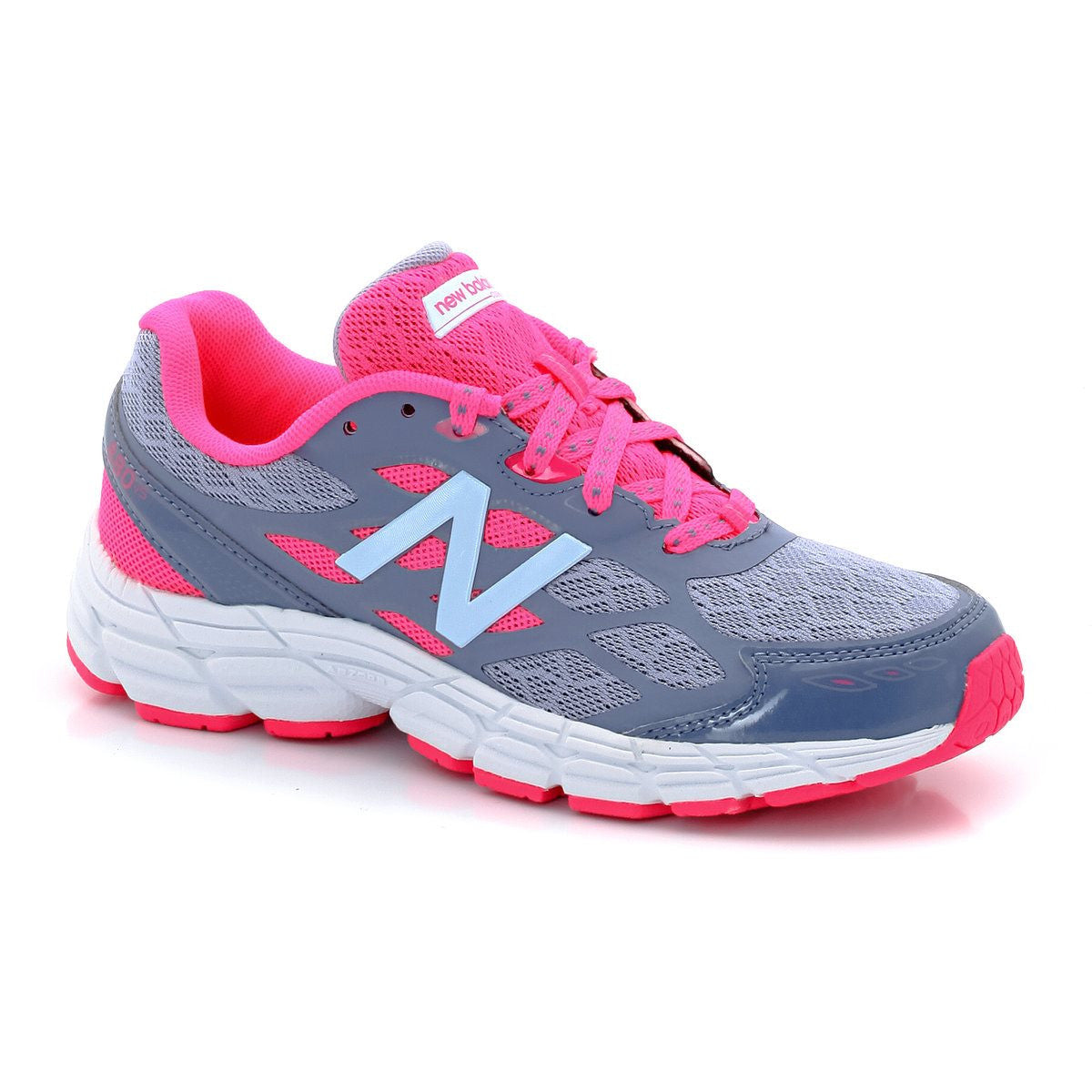 New Balance Grey/Pink KJ880v5 Little/Big Kid Sneaker