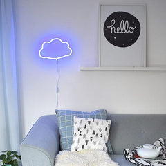 Little Lovely Neon Light - Blue Cloud