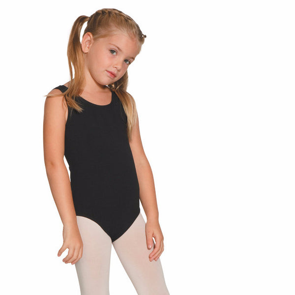 Mondor Classic Black Cotton Tank Leotard