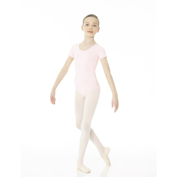 Mondor Essentials True Pink Short-Sleeved Leotard