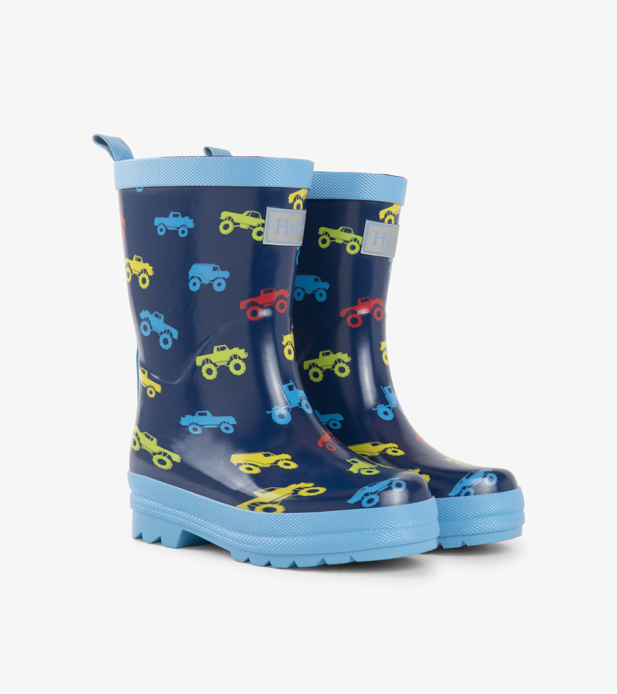 Hatley Colourful Monster Trucks Rain Boots
