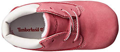 Timberland Pink Crib Booties with Hat