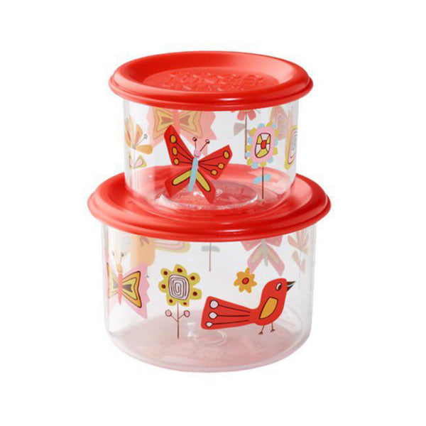Good Lunch Snack Container Set - Birds & Butterflies