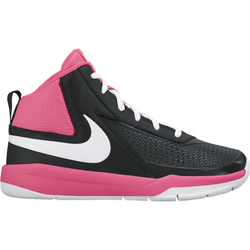 Nike Black/Pink Team Hustle Basketball Shoe