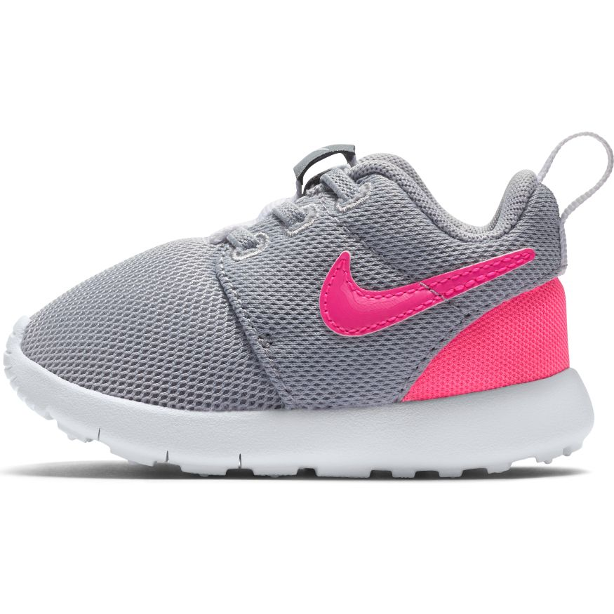 Nike Wolf Grey/Hyper Pink Roshe One Toddler Sneaker
