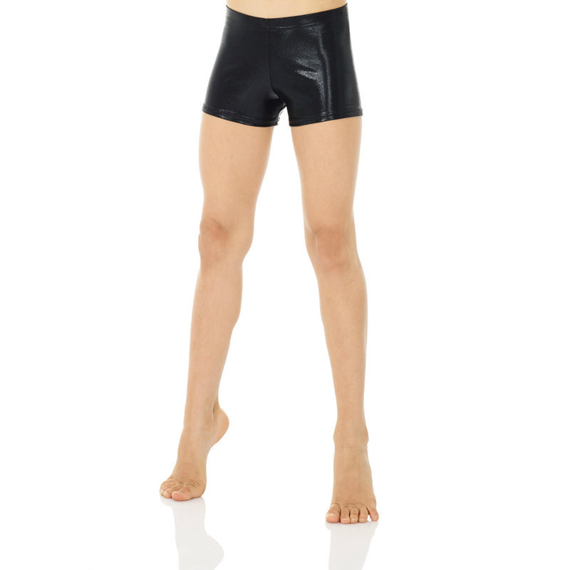 Mondor True Black Metallic Shorts