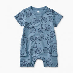 Tea Collection Bicycle Print Romper