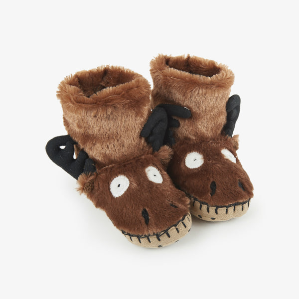 Little Blue House Moose Slippers