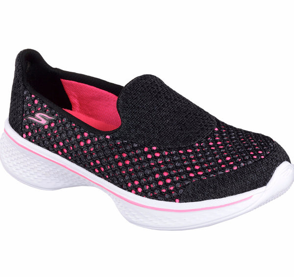 Skechers Black/Hot Pink Go Walk Slip-On