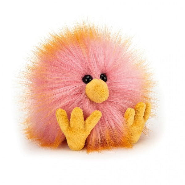 Jellycat Yellow and Pink Crazy Chick