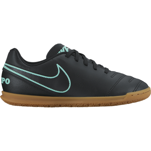 Nike Black Junior Tiempo Rio Indoor Soccer Shoe