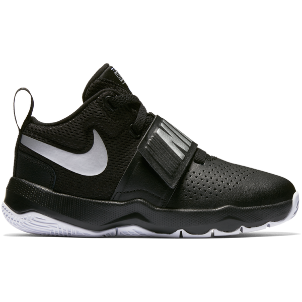 Nike Black/Metallic Silver Team Hustle Basketball Sneaker