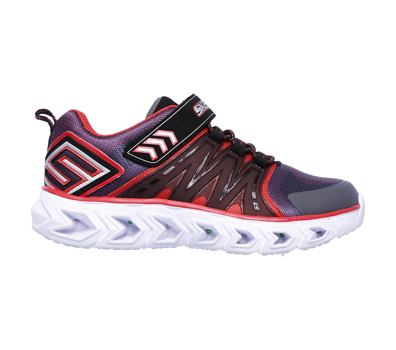 Skechers Charcoal/Red Hypno-Flash