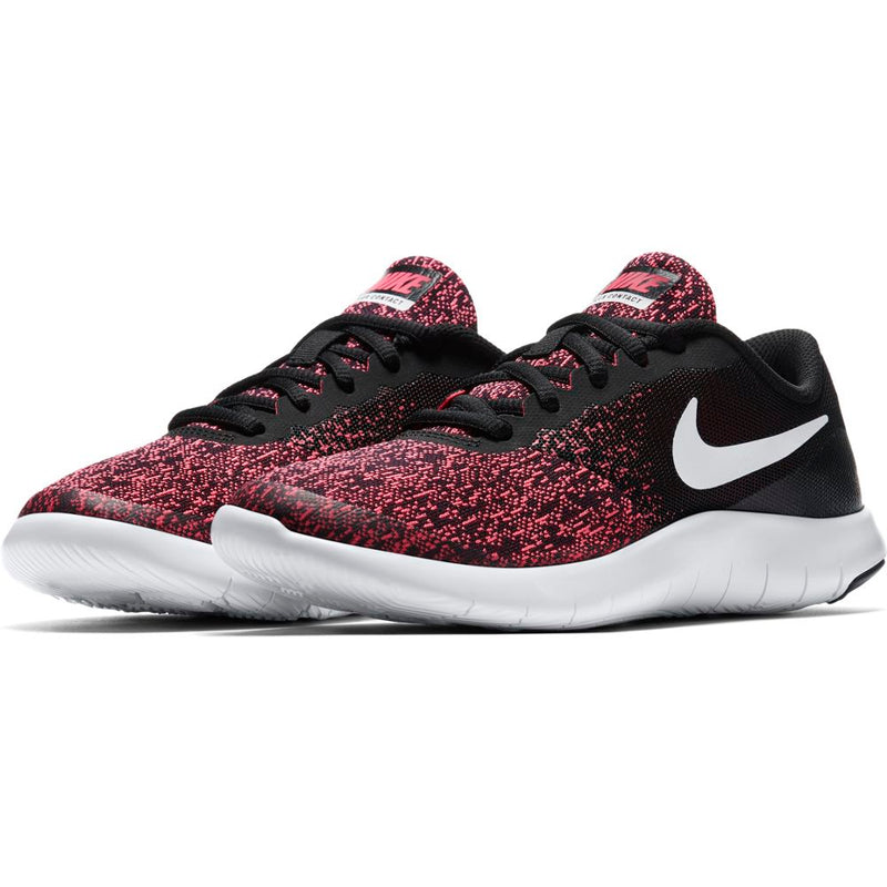 Nike Black/White/Racer Pink Flex Contact Youth Sneaker