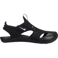 Nike Black/White Sunray Protect Little Kid Sandal