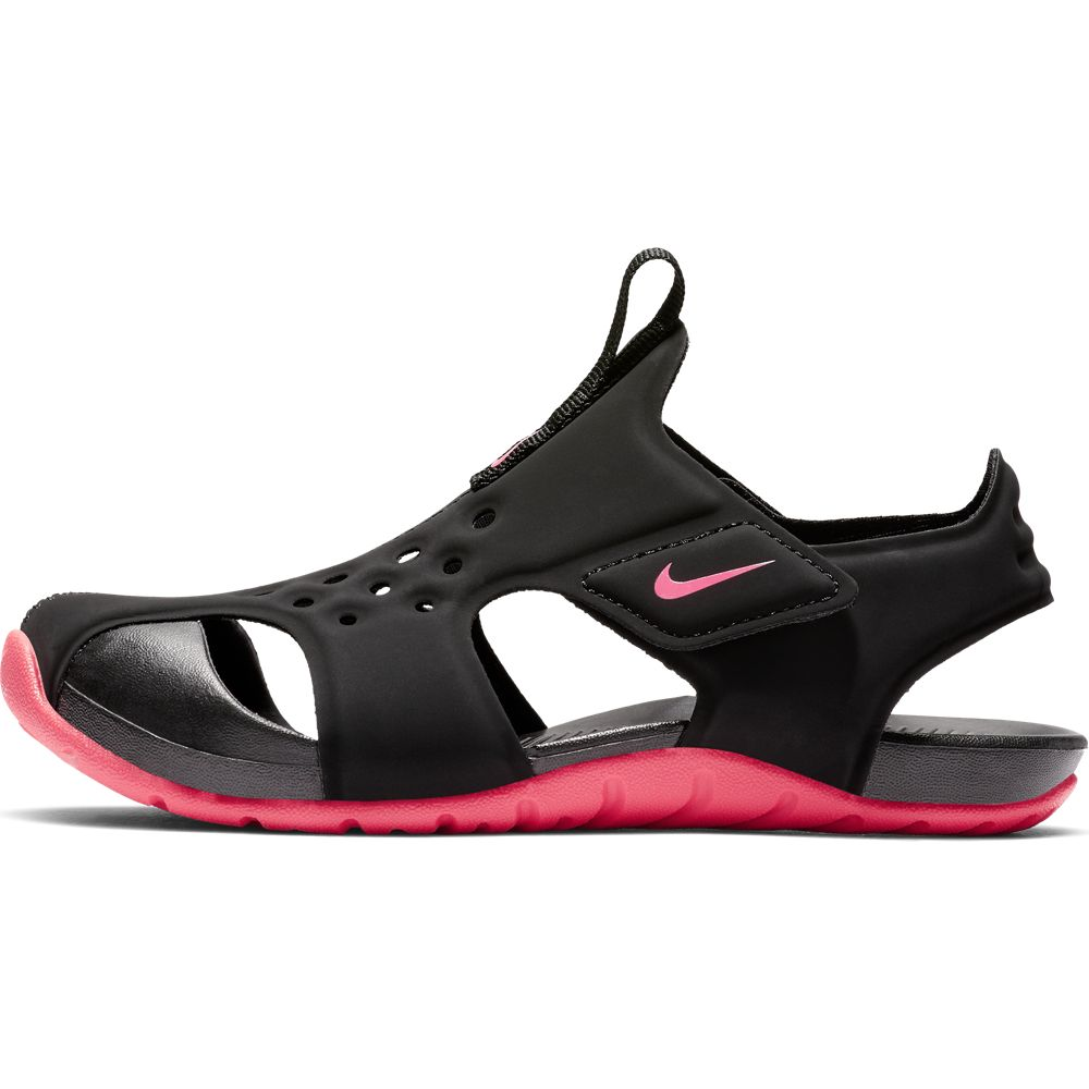 Nike Black/Racer Pink Sunray Protect Children's Sandal