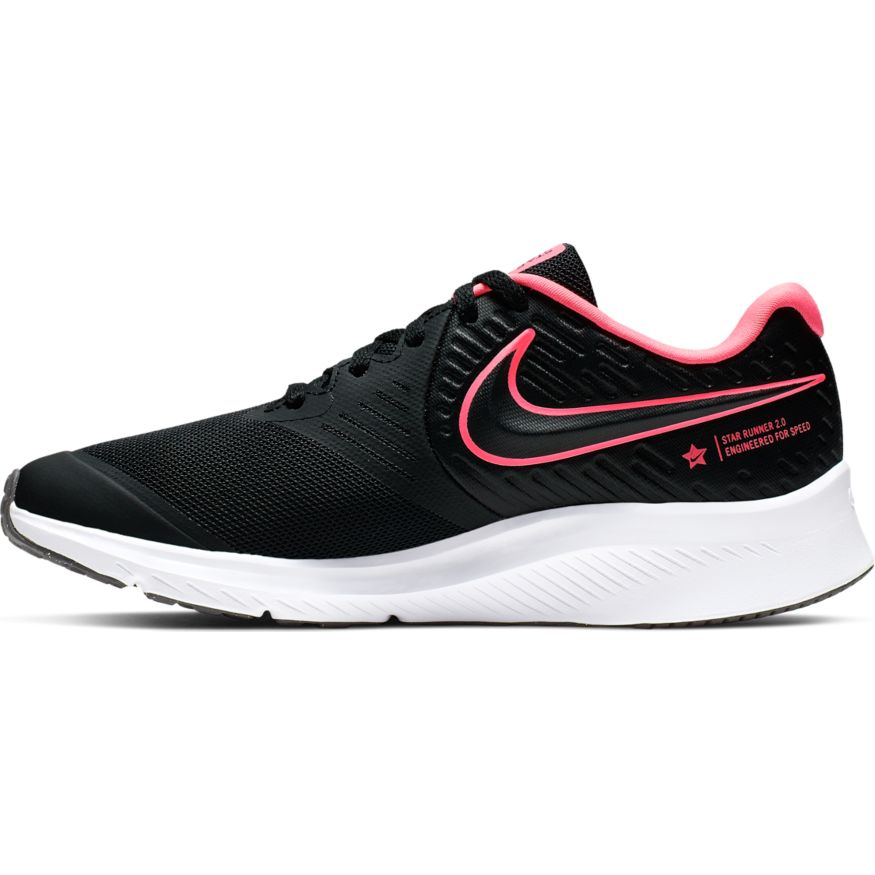 Nike Black/Sunset Pulse Star Runner 2 Youth Sneaker