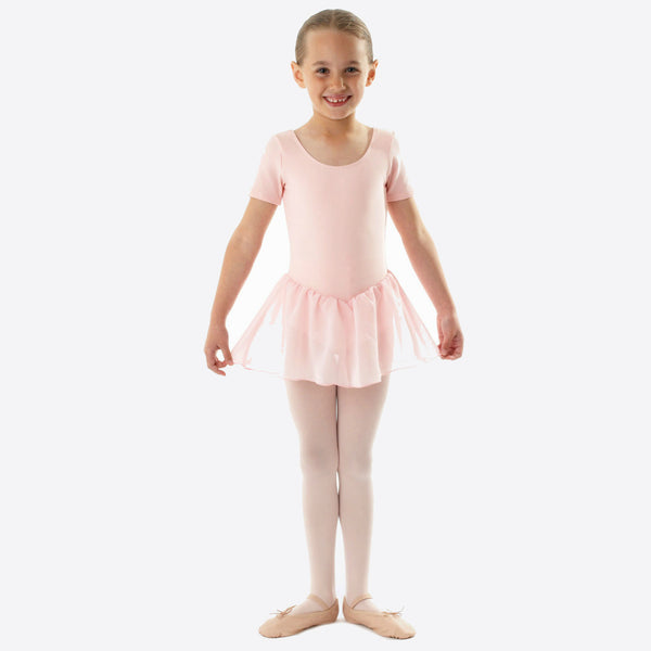 Bloch Light Pink Leotard with Chiffon Skirt