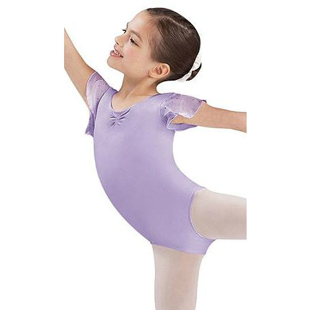 Bloch Lilac Sequin Tulip Sleeve Leotard