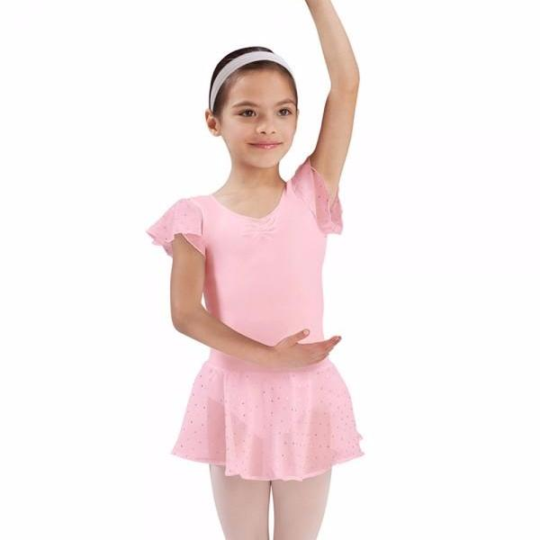 Bloch Candy Pink Sequin Georgette Skirt