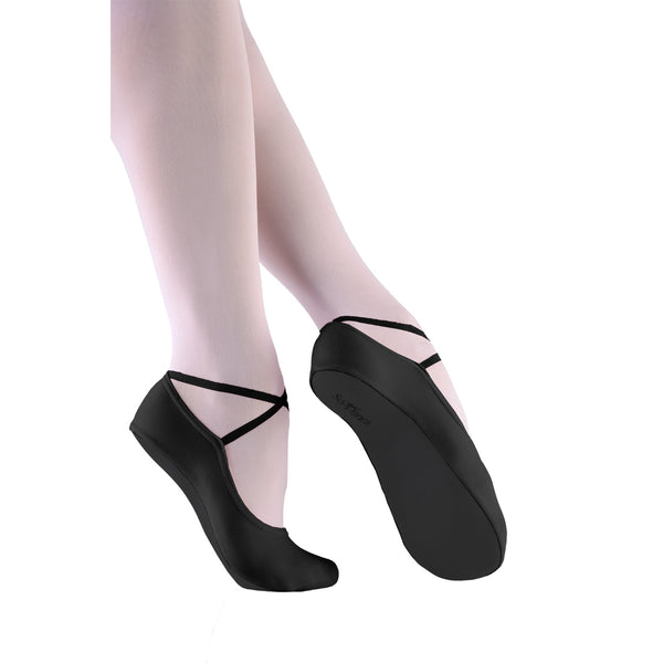 So Danca Girls' Black Gym Slippers