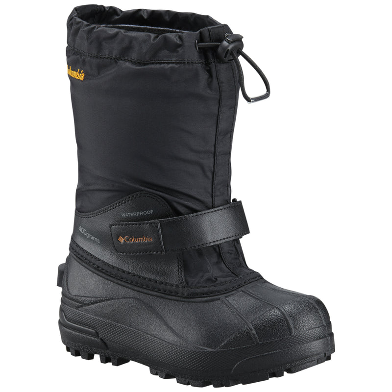 Columbia Black/Orange Blast Powderbug Boot