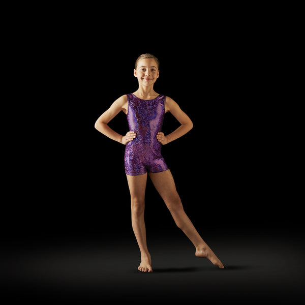Leo Adult Purple Disco Unitard