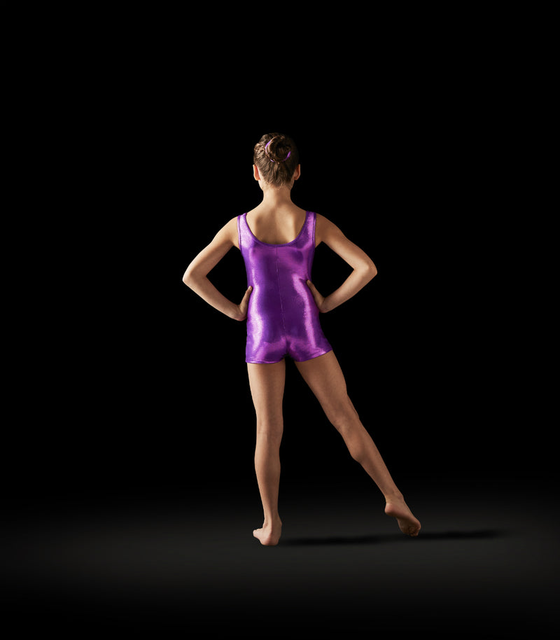 Leo Adult Purple Heart Basic Foil Cami Leotard