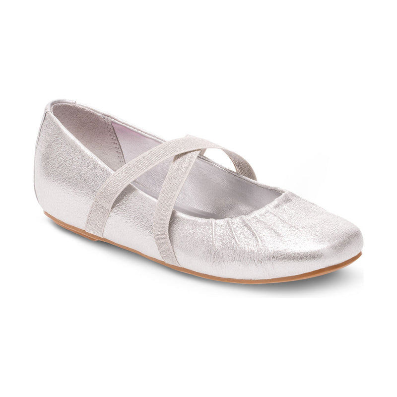 Hush Puppies Silver Brenna Children's Ballet Flat