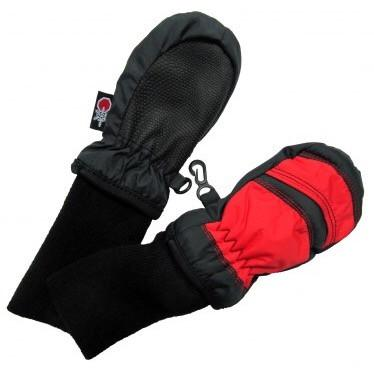 SnowStoppers Stay-On Mittens - Red and Black