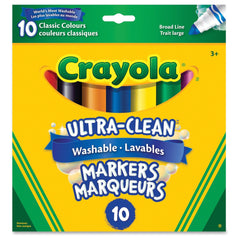 Crayola Broad Markers UltraClean 10pack