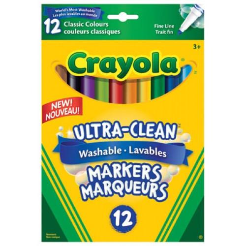 Crayola Fine Markers UltraClean 12pack