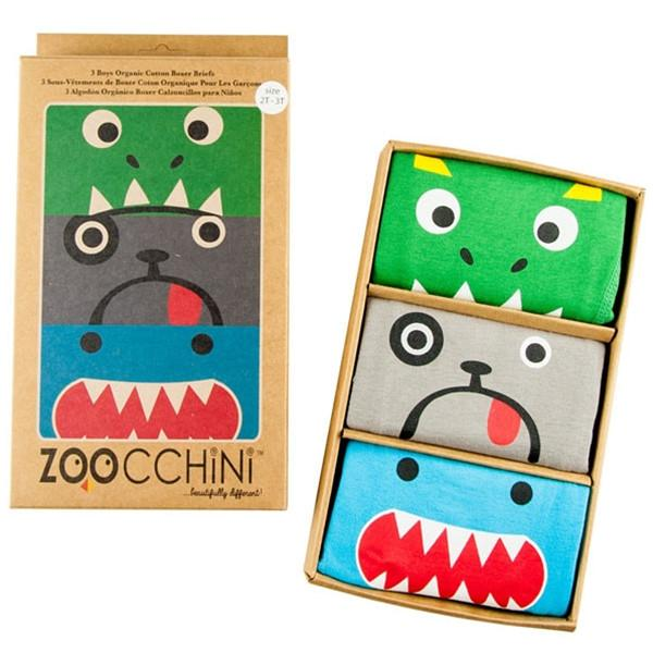Zoocchini Cotton Underpants 3 Pack - Monster Mash