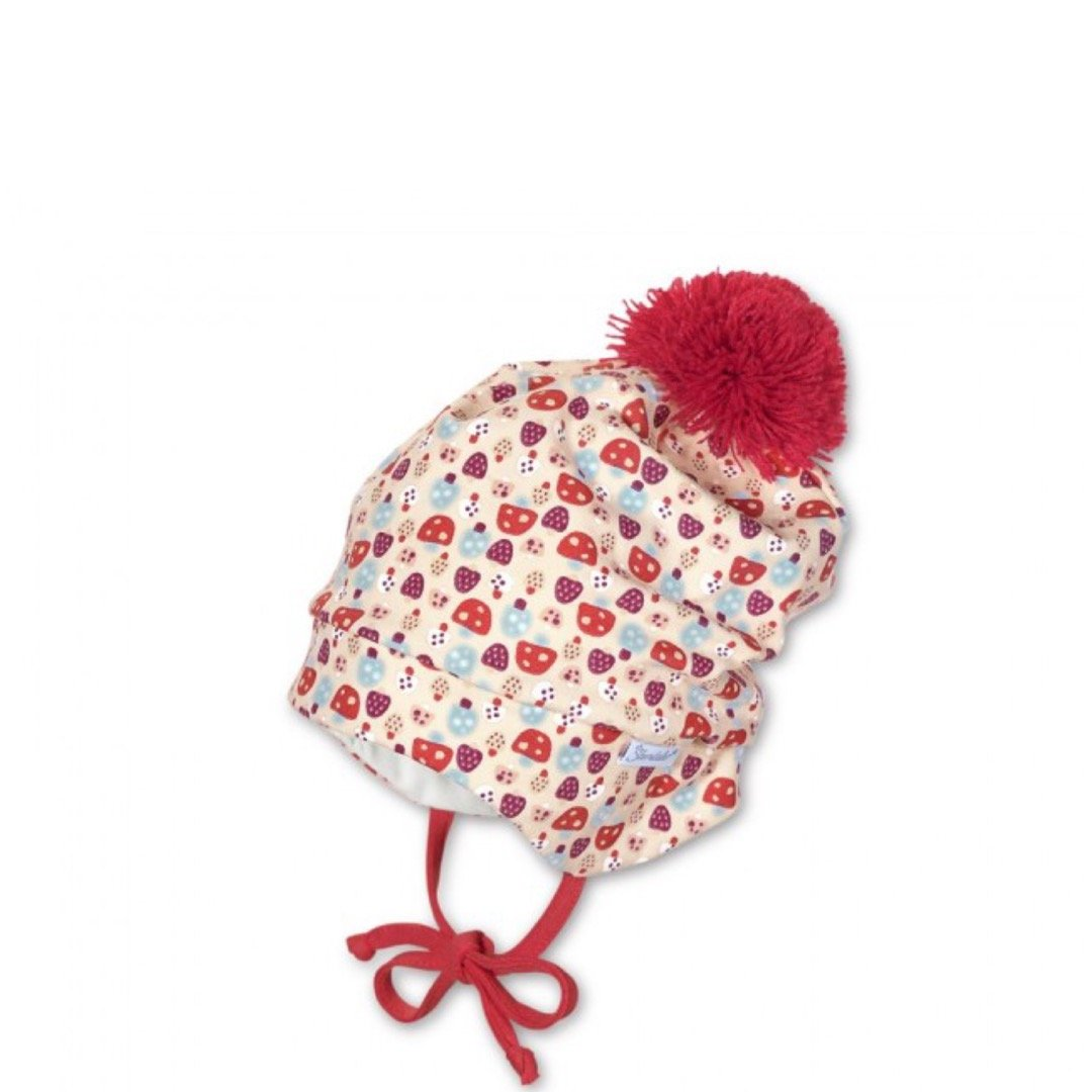 Sterntaler Winter Hat with Ties and Pompom